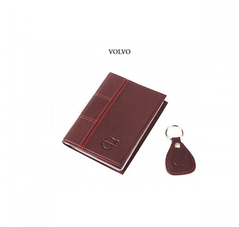Обложка для водительского удостоверения с брелком «VOLVO» 065-07-53М