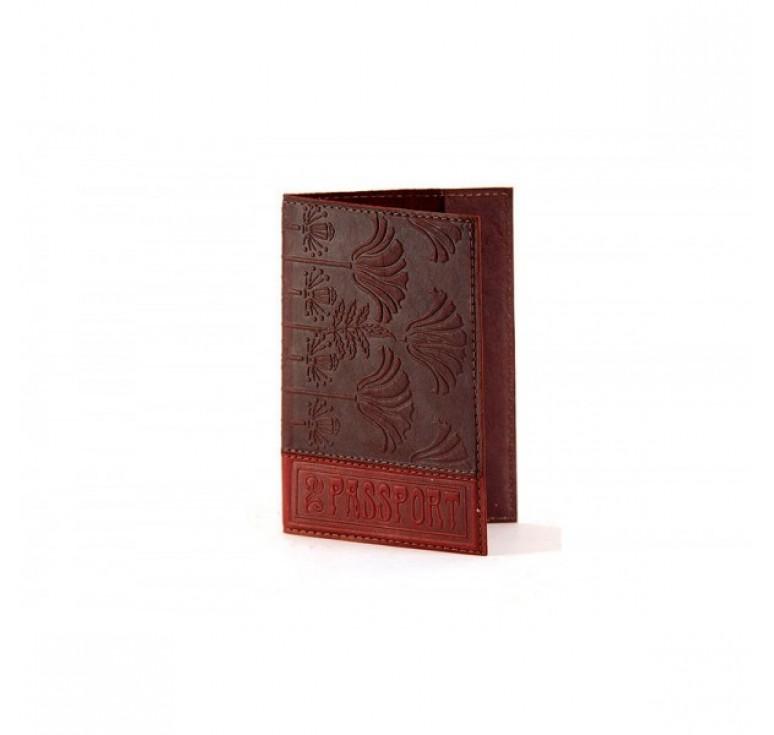 Обложка для паспорта «Хризантема» 009-07-08К