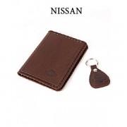 Обложка для водительского удостоверения с брелком «NISSAN» 065-07-34К