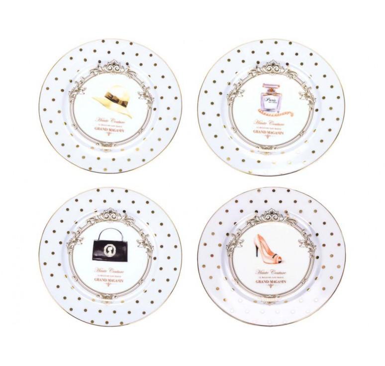 VIP Набор  десертных тарелок «Женский каприз»
