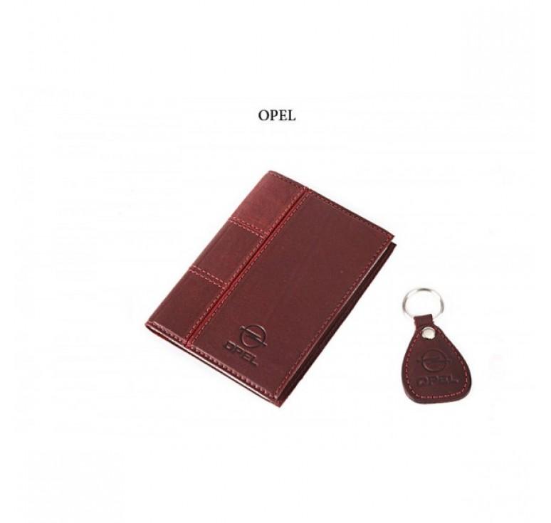 Обложка для водительского удостоверения с брелком «OPEL» 065-07-39К