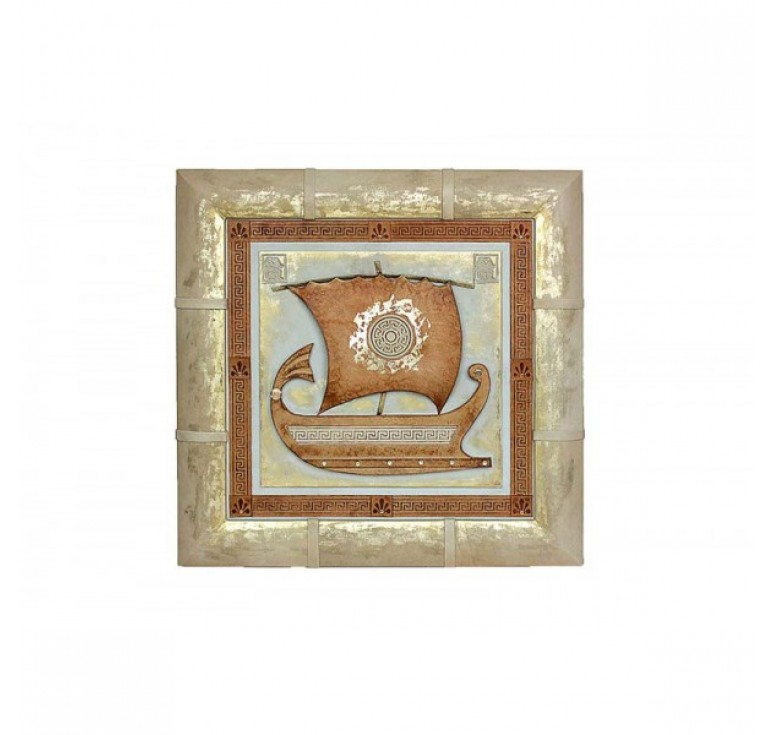 Панно «Серебряная ладья» 055-07-28М