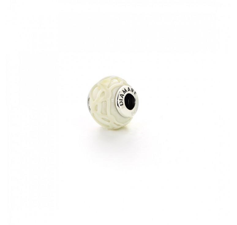 Подвеска-перлина «Белая глазурь»