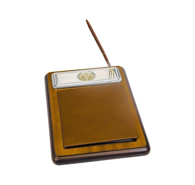 VIP Подставка для бумажного блока с ручкой и телефонной книжкой «Голова льва»