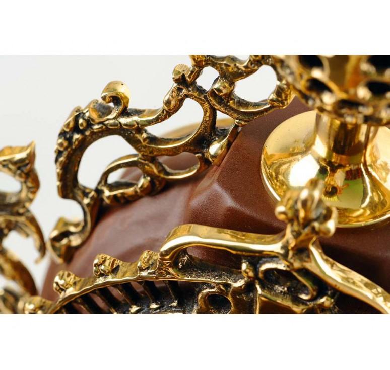 VIP Композиция «Герцог Альба»: интерьерные часы с подсвечниками