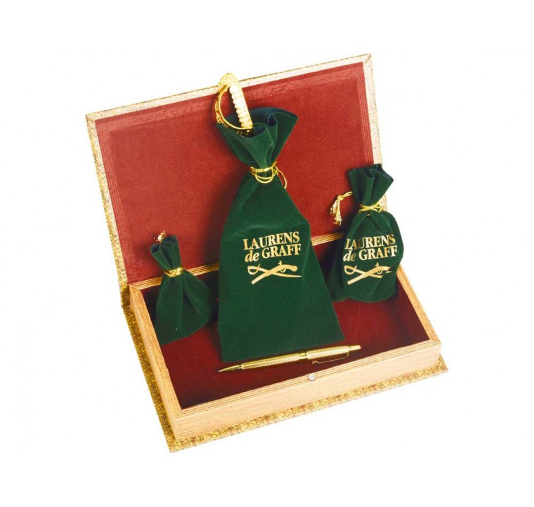 VIP Набор «Клипер»: часы песочные, нож для бумаг, ручка шариковая, брелок-термометр