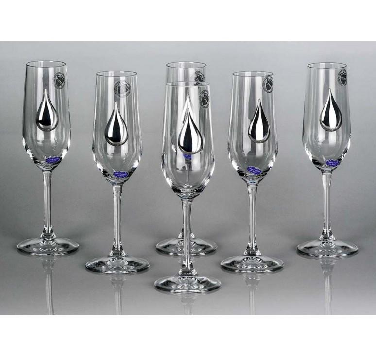 VIP Набор бокалов для шампанского «Siberian Light»