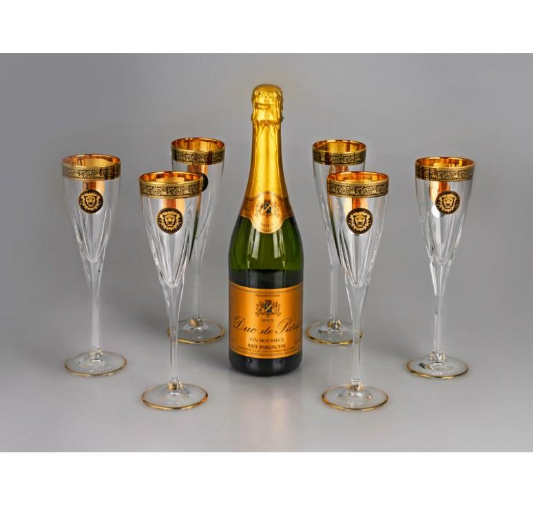 VIP Набор бокалов для шампанского «Сила льва»