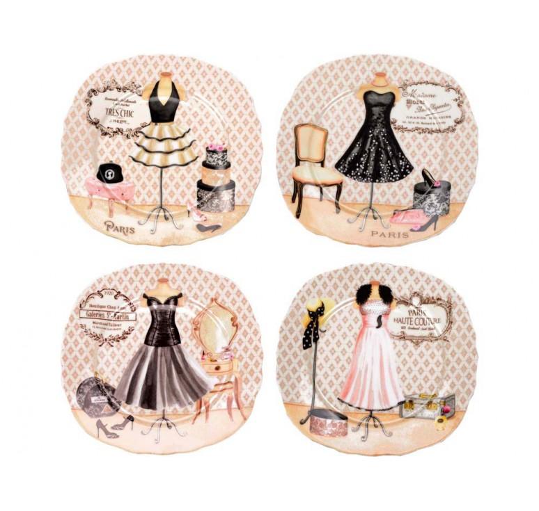 VIP Набор  десертных тарелок «Высокая мода»