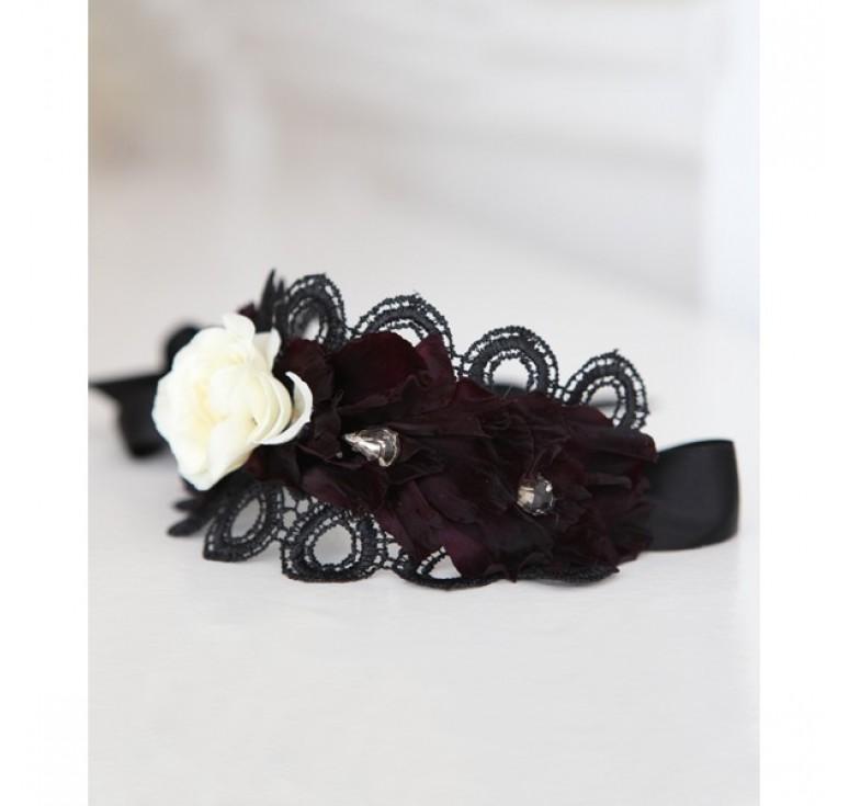 """Свадебный букет """"Черная кошка"""""""