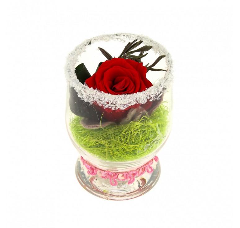 Цветы красные в стекле
