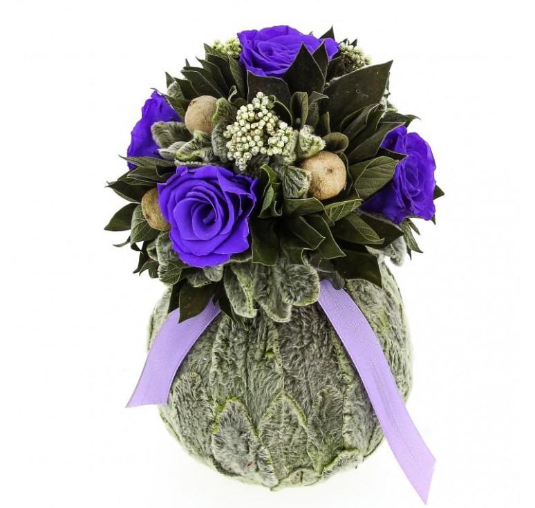 Букет Бомбоньер из лиловых роз