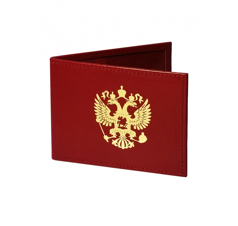 Обложка для удостоверения   Золотое тиснение   Красный