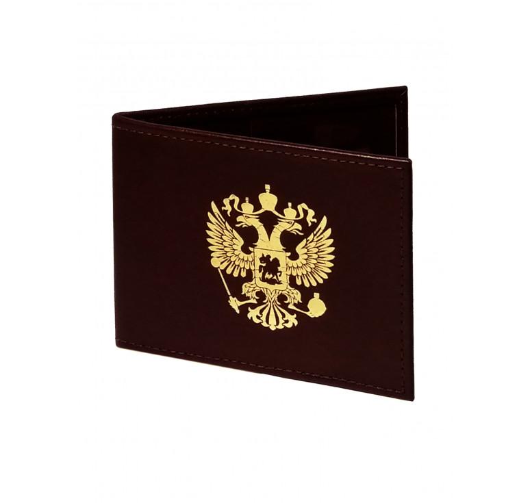 Обложка для удостоверения   Золотое тиснение   Бордо