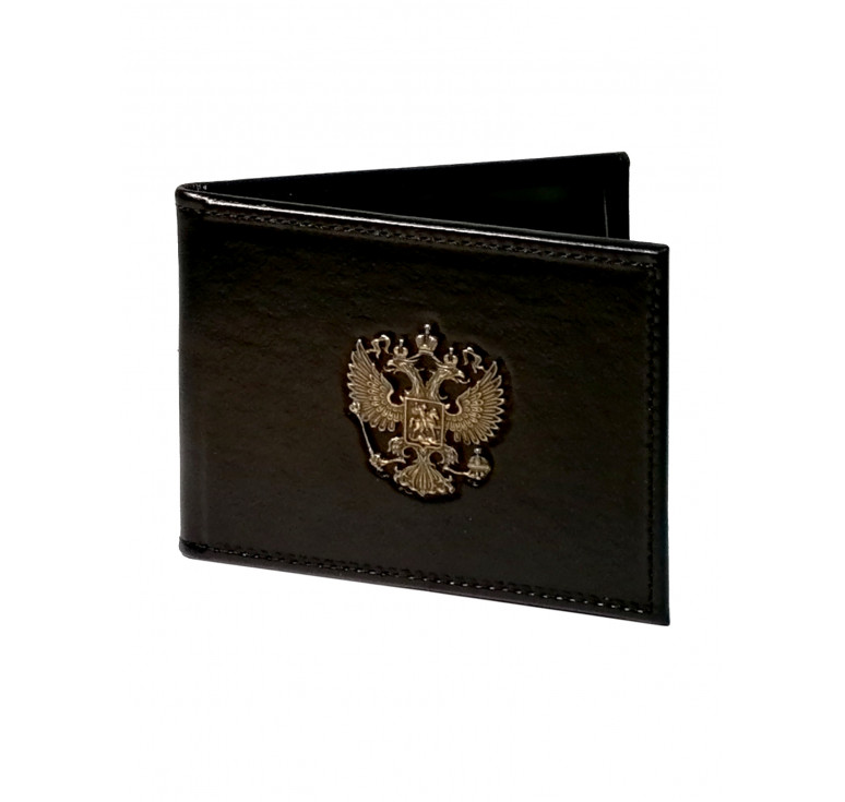 Обложка для удостоверения   Литой герб РФ   Чёрный   Арт. 003-10-00