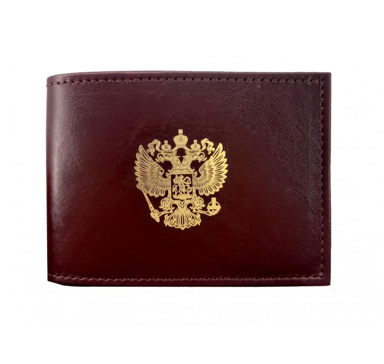 Обложка для удостоверения   Золотая пластинка   Бордо   Арт. 003-16-00/3