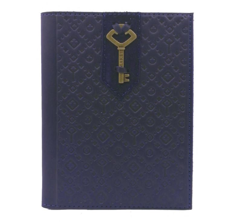 Обложка на паспорт | Ключ | Синий