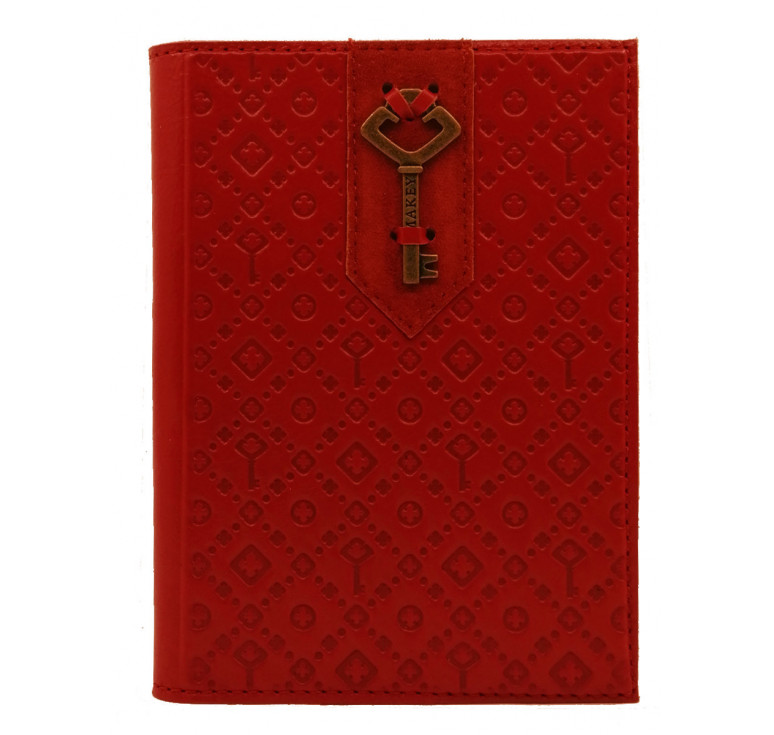 Обложка на паспорт | Ключ | Красный