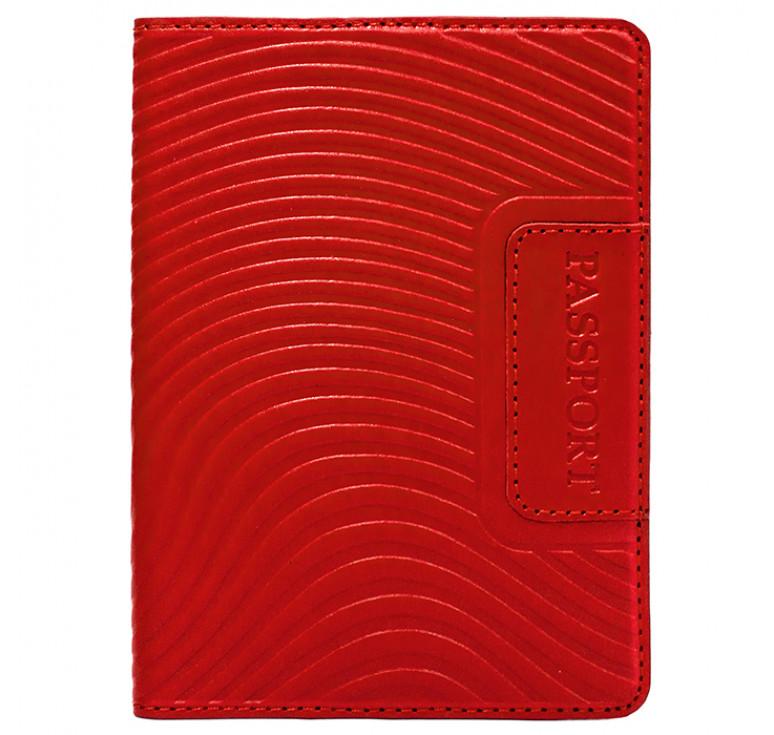 Обложка на паспорт | Waves | Красный