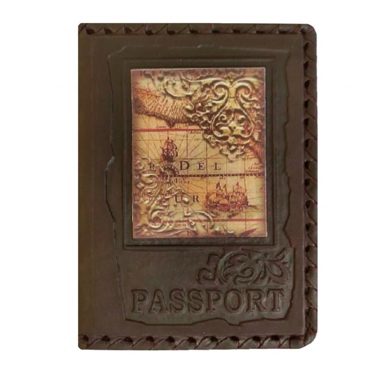 Обложка на паспорт | Карта | Коричневый