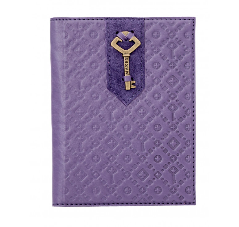 Обложка на паспорт   Ключ   Лаванда
