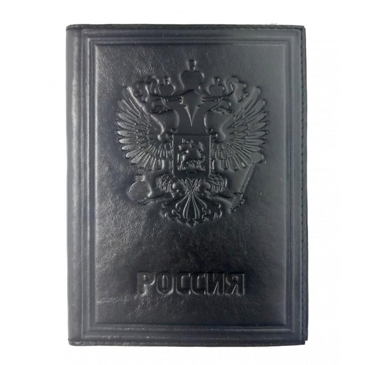 Обложка для автодокументов | Россия | Чёрный