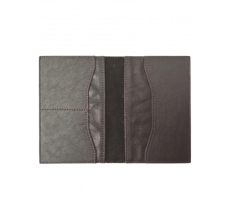 Обложка для паспорта с карманами   Капучино