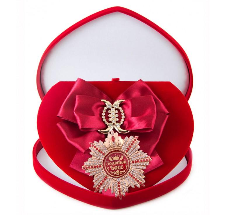 Большой Орден  Золотой босс (малиновая лента)