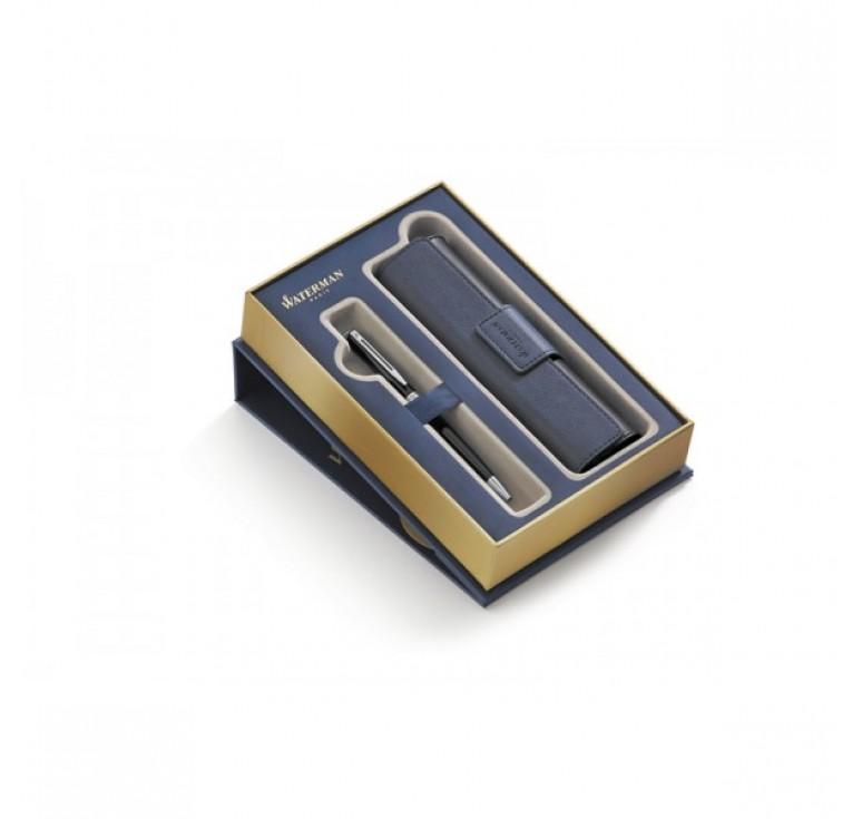 Подарочный набор Waterman:Шариковая ручка Waterman Hemisphere Black CT в чехле с магнитной застежкой