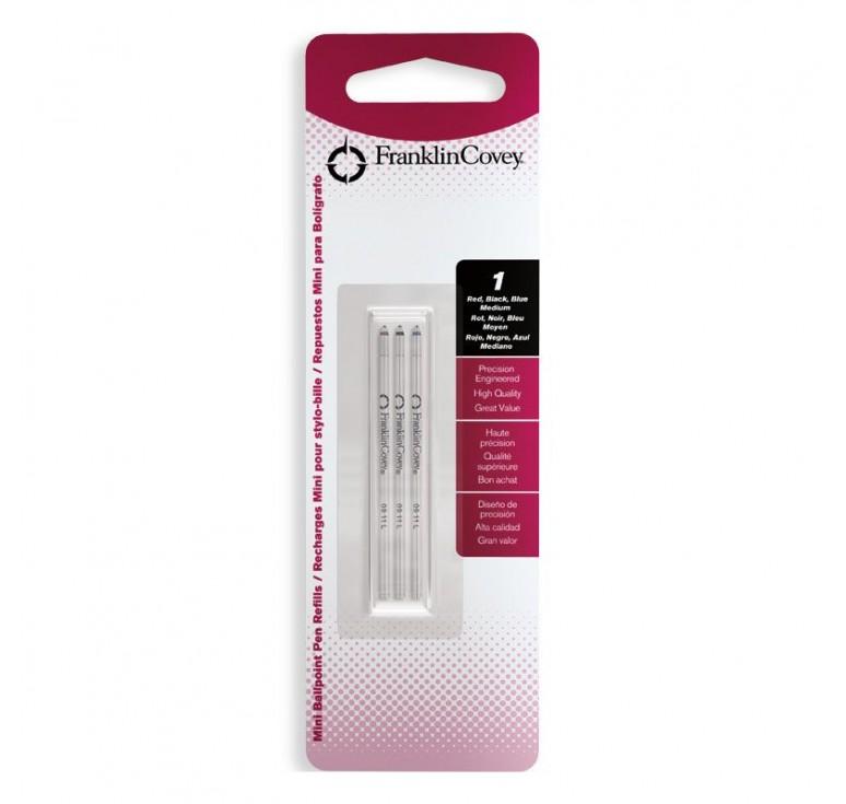 Стержни шариковые FranklinCovey мини для многофункциональных ручек, 3 цвета