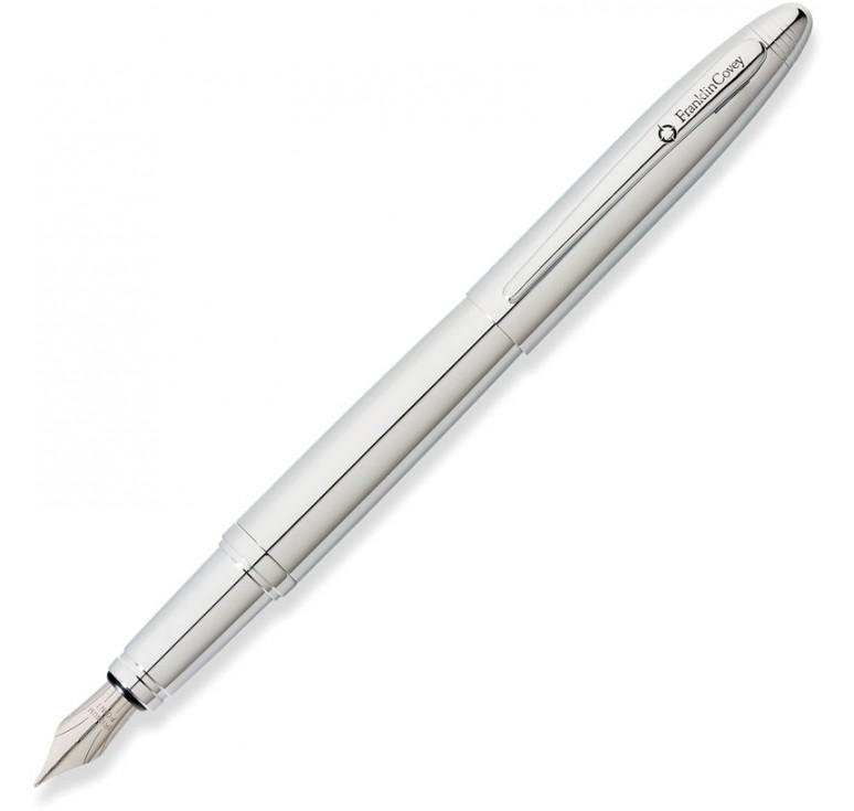 Перьевая ручка FranklinCovey Lexington. Цвет - хромовый.