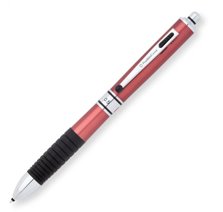 Многофункциональная ручка FranklinCovey Hinsdale. Цвет - красный/черный грип