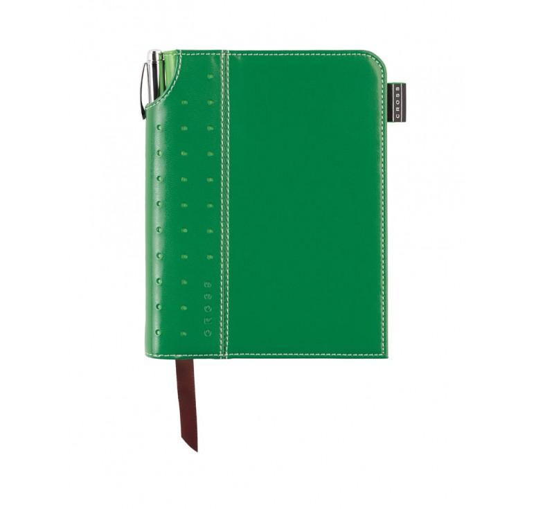 Записная книжка Cross Journal Signature A6, 250 страниц в линейку, ручка 3/4. Цвет -  зеленый