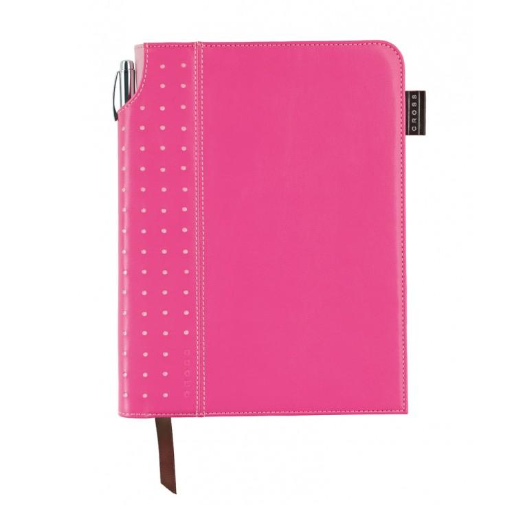 Записная книжка Cross Journal Signature A5, 250 страниц в линейку, ручка 3/4. Цвет - розовый