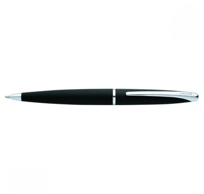 Шариковая ручка Cross ATX Цвет - матовый черный/серебро
