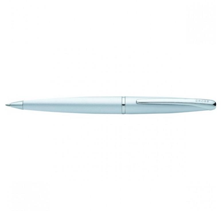 Шариковая ручка Cross ATX. Цвет - серебристый матовый.