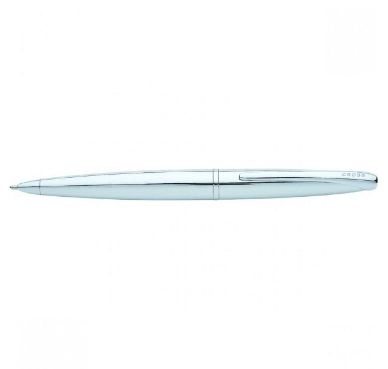 Шариковая ручка Cross ATX. Цвет - серебристый.