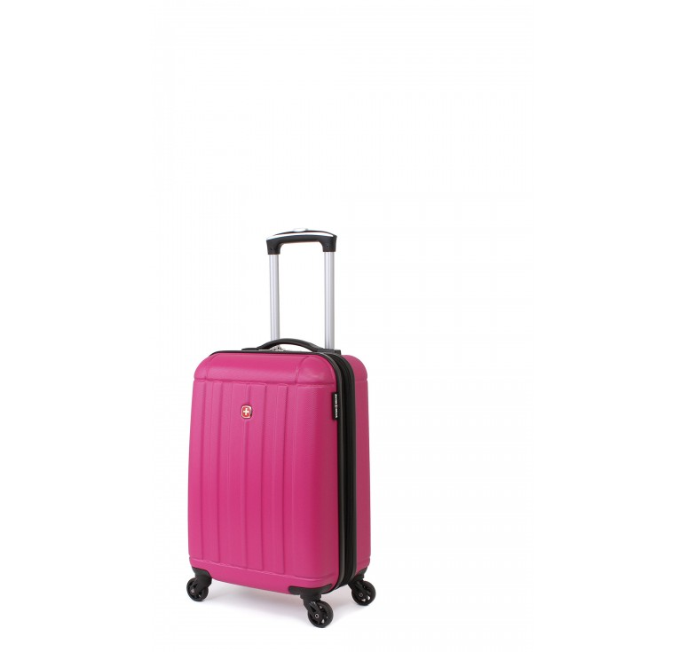 Чемодан SWISSGEAR USTER, розовый, АБС-пластик, 34x22x55 см, 37 л