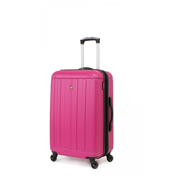 Чемодан SWISSGEAR USTER, розовый, АБС-пластик, 41x26x58 см, 62 л