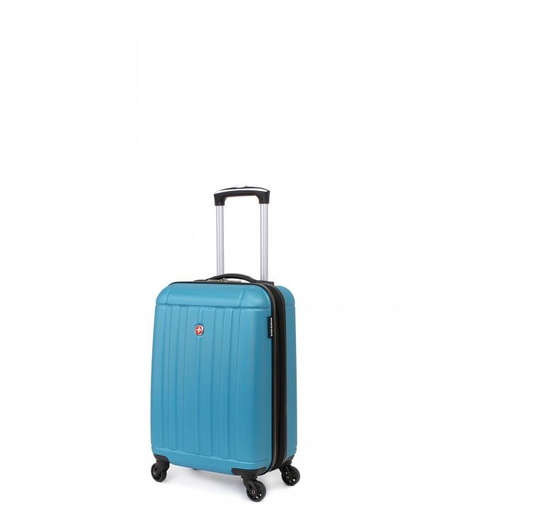 Чемодан SWISSGEAR USTER, голубой, АБС-пластик, 34x22x55 см, 37 л