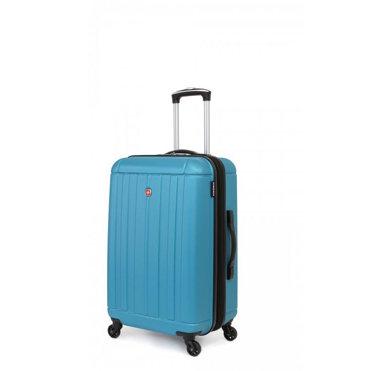 Чемодан SWISSGEAR USTER, голубой, АБС-пластик, 41x26x58 см, 62 л