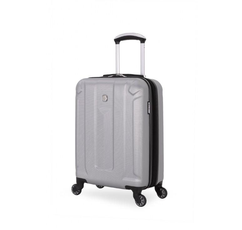 Чемодан WENGER ZURICH III, серебристый, АБС-пластик, 35,5x23x48 см, 34 л