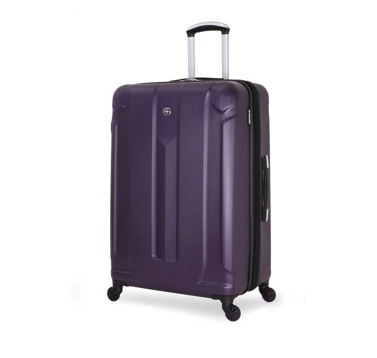 Чемодан WENGER ZURICH III, фиолетовый, АБС-пластик, 48x30x71 см, 105 л