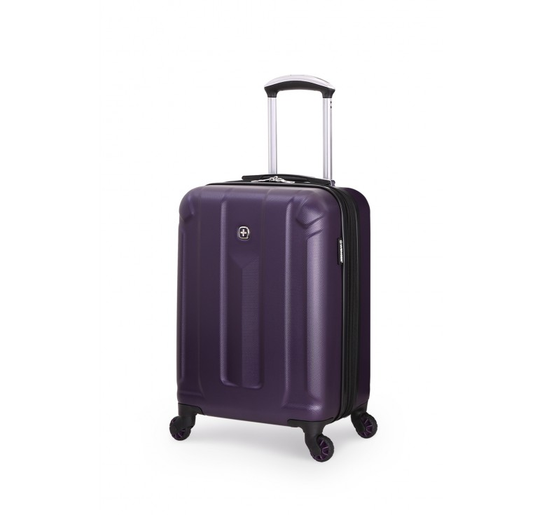 Чемодан WENGER ZURICH III, фиолетовый, АБС-пластик, 35,5x23x48 см, 34 л
