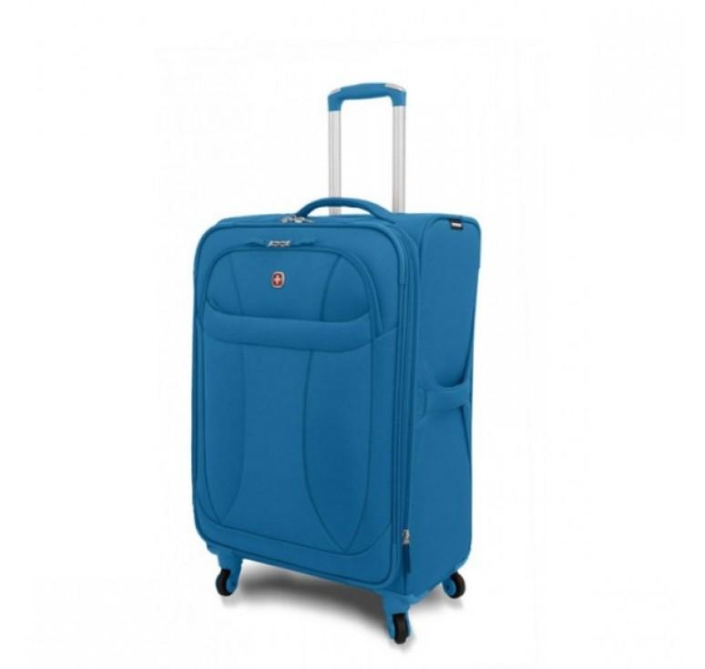"""Чемодан WENGER """"NEO LITE Spinner"""", синий, полиэстер, 48х27x74 см, 96 л"""