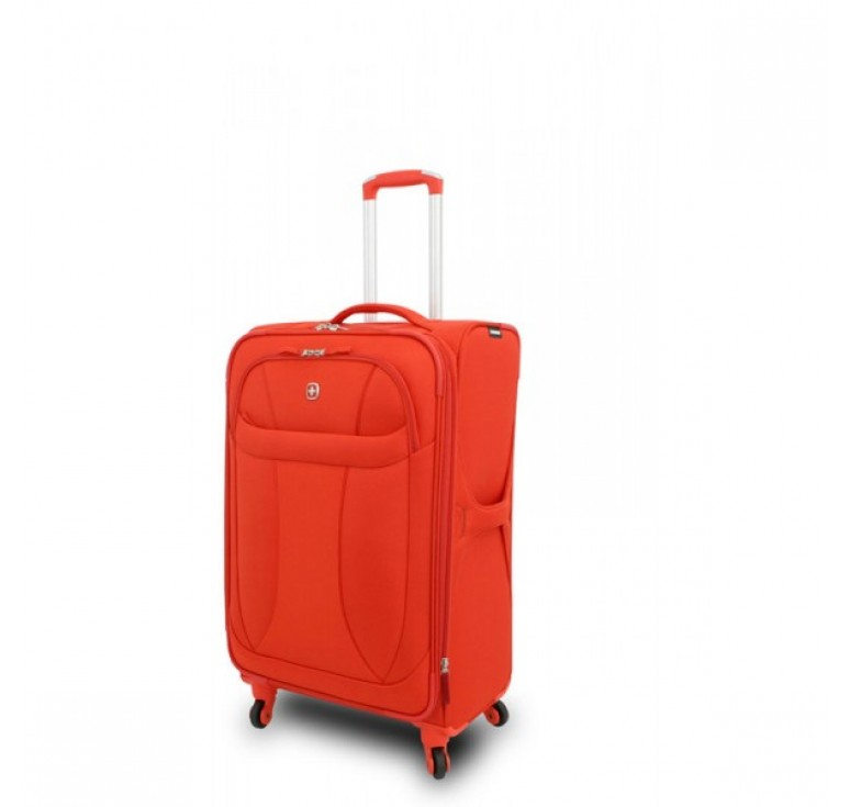 """Чемодан WENGER """"NEO LITE Spinner"""", оранжевый, полиэстер, 47х27x74 см, 64 л"""
