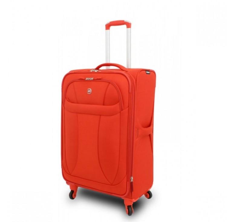"""Чемодан WENGER """"NEO LITE Spinner"""", оранжевый, полиэстер, 74х48x27 см, 96 л"""