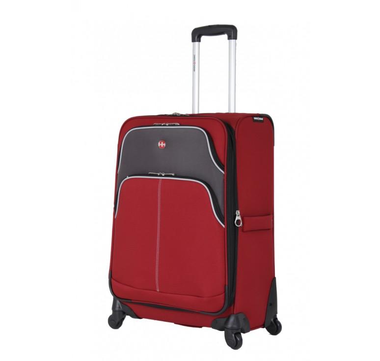 Чемодан SWISSGEAR ARBON, красный/серый, полиэстер 600D/420Dx280D добби, 49x31x78 см, 92 л