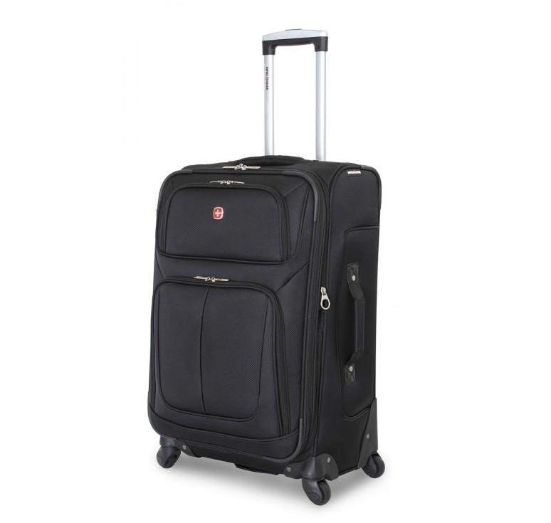 Чемодан SWISSGEAR SION, чёрный, полиэстер 750x750D добби, 46x29x80 см, 90 л