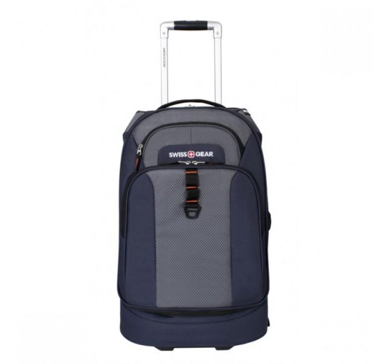 Сумка на колесах SWISSGEAR Sport Line, синий/серый, полиэстер 600Dx600D/рипстоп 420X250D, 36x20x53см